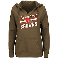 Women's Majestic Cleveland Browns Highlight Play Hoodie