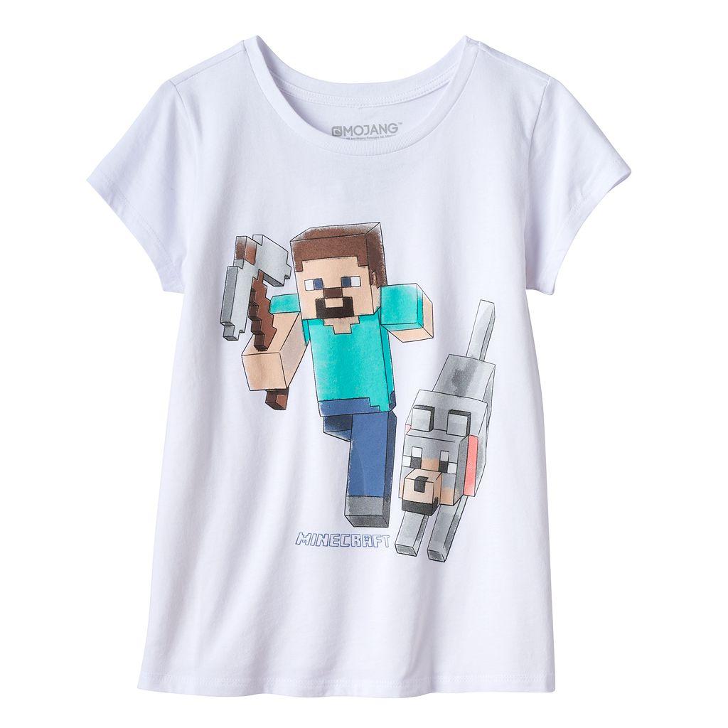 Girls 7-16 Minecraft Steve Hero Graphic Tee