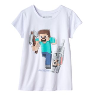 Girls 7-16 Minecraft Steve Hero Graphic Tee