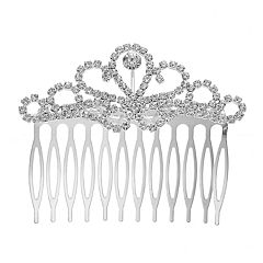 Simulated Crystal Filigree Hair Comb