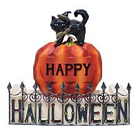 Celebrate Halloween Together Black Cat Table Decor