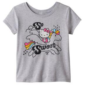 "Girls 7-16 Hello Kitty® ""So Sweet"" Unicorn Tee"