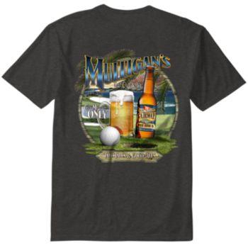"Men's Newport Blue ""Mulligan's Golf Club & Bar"" Tee"