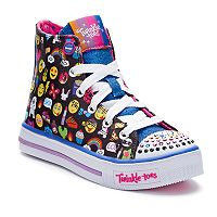 Skechers Twinkle Toes Shuffles Chat Time Girls' Light Up Sneakers