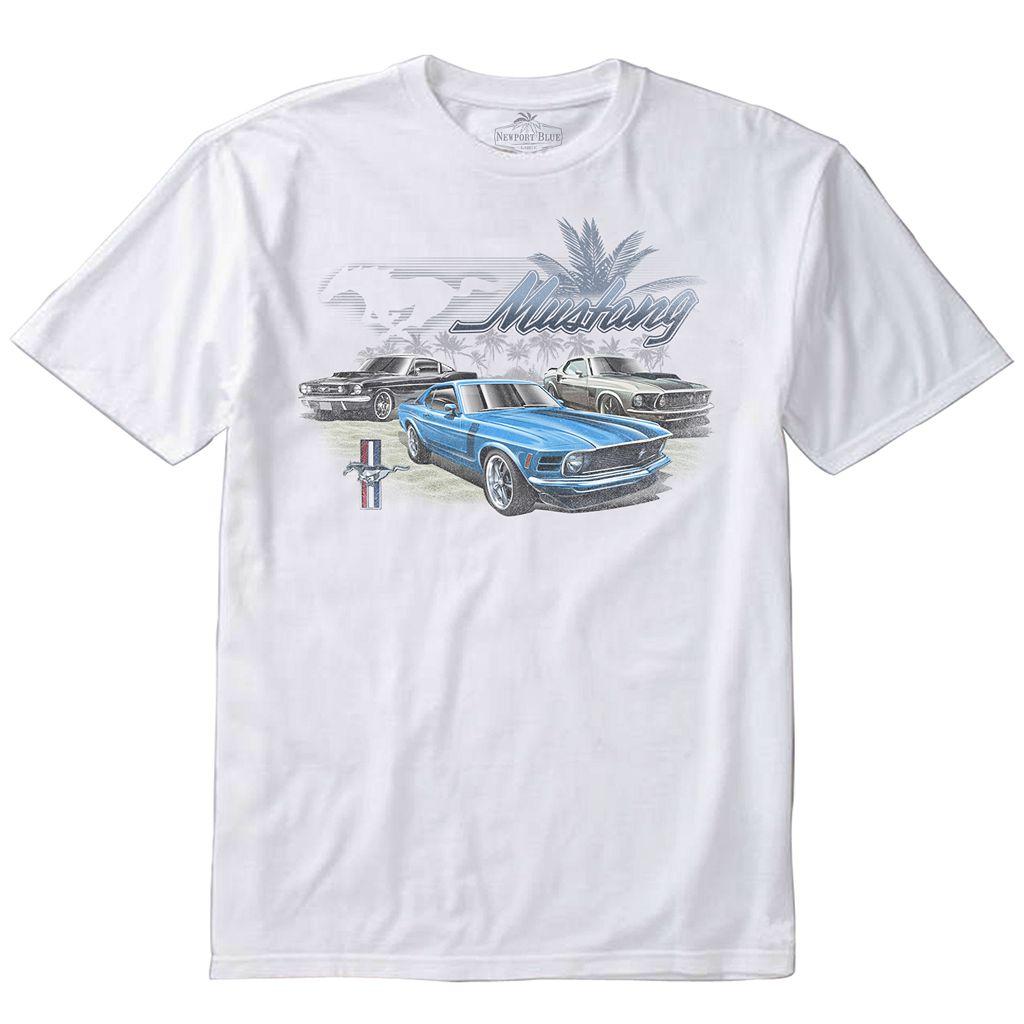 Men's Newport Blue Car Tee