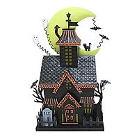 Celebrate Halloween Together Light-Up Haunted House Table Decor