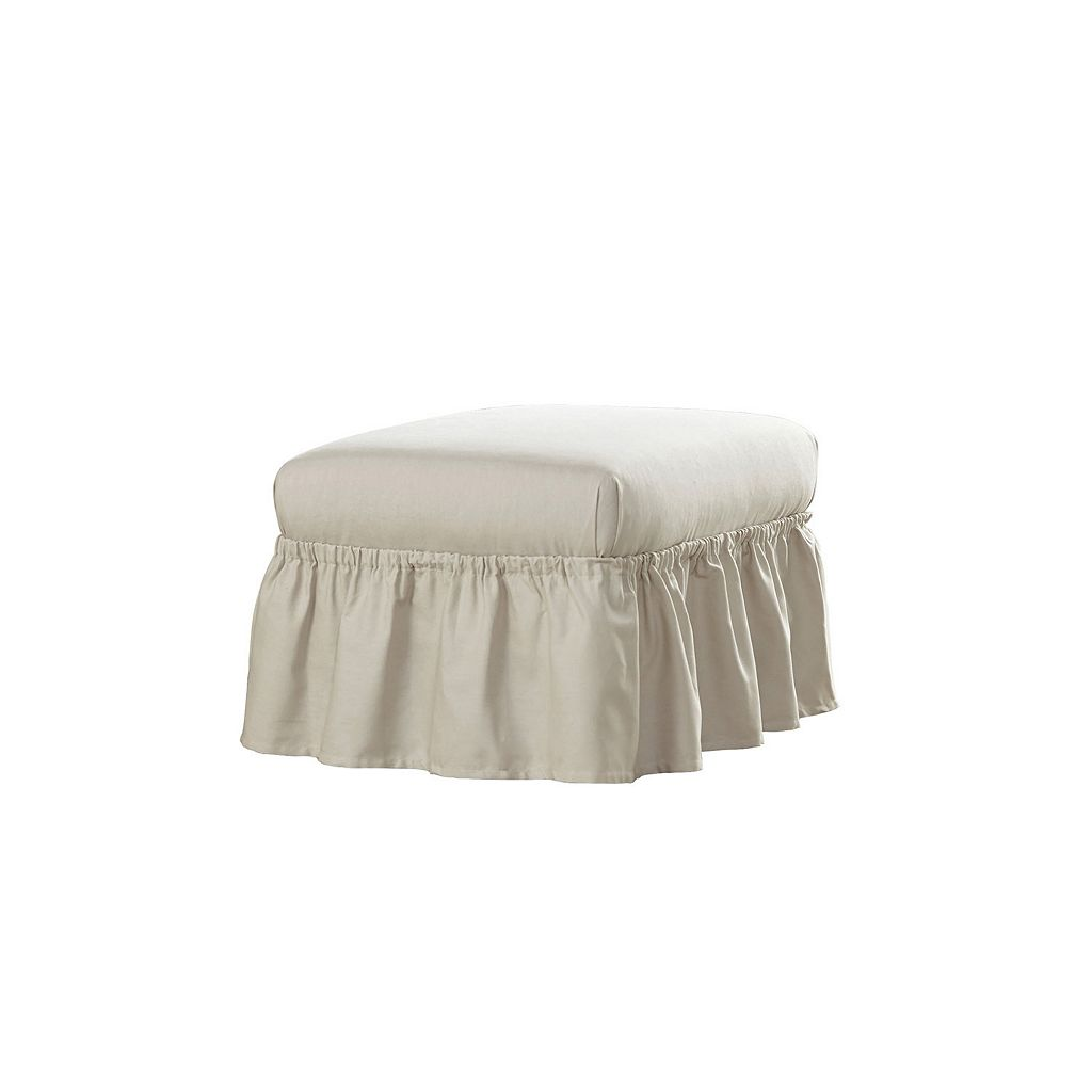 Serta Relaxed Fit Duck Ottoman Slipcover