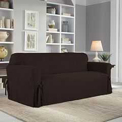 Serta Relaxed Fit Smooth Suede Sofa Slipcover