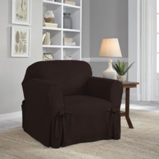 Serta Relaxed Fit Smooth Suede Chair Slipcover