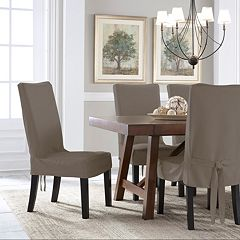 Serta Relaxed Fit Smooth Suede Dining Chair Slipcover