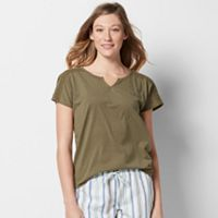 Women's SONOMA Goods for Life™ Pajamas: Notch Neck Tee