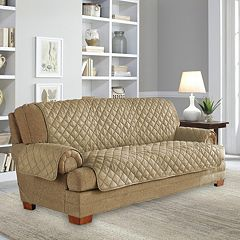Serta Ultra Suede Waterproof Loveseat Slipcover