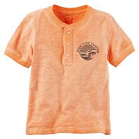 Boys 4-8 Carter's Chest Graphic Henley Tee