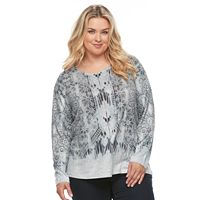Plus Size World Unity Curved Hem Sweater