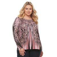 Plus Size World Unity Curved Hem Sweater