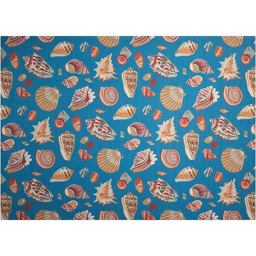 Waverly Sun N' Shade Abstract Shells Indoor Outdoor Rug