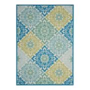 Waverly Sun N' Shade Sweet Sun Floral Indoor Outdoor Rug