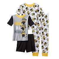 Boys 4-12 Despicable Me 3 Minion Mission 4-Piece Pajama Set