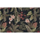 Waverly Sun N' Shade Wilea Coast Floral Black Indoor Outdoor Rug