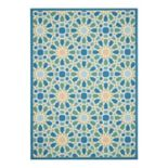 Waverly Sun N' Shade Starry Eyed Geometric Indoor Outdoor Rug