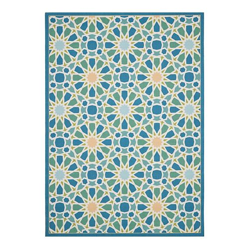 Waverly Sun N' Shade Starry Eyed Geometric Indoor Outdoor Rug