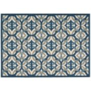 Waverly Sun N' Shade Celestial Geometric Indoor Outdoor Rug