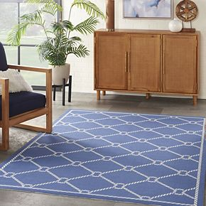 Waverly Sun N' Shade Rope Lattice Indoor Outdoor Rug