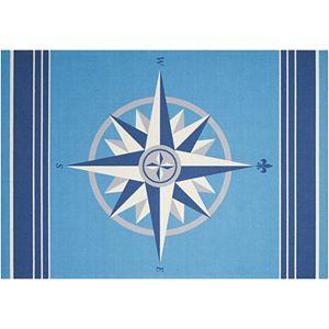 Waverly Sun N' Shade Sailing Compass Indoor Outdoor Rug