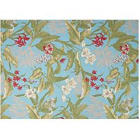 Waverly Sun N' Shade Wailea Coast Floral Indoor Outdoor Rug