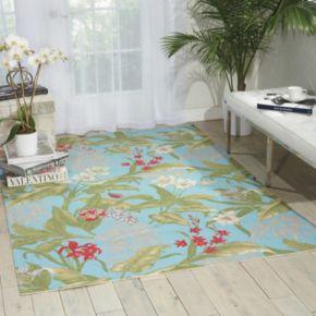 Waverly Sun N' Shade Wailea Coast Floral Indoor Outdoor Rug