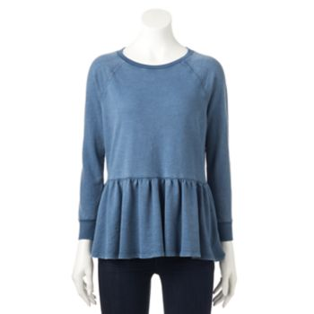 Women's SONOMA Goods for Life? French Terry Peplum Top