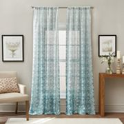 Brookfield Floral Ombre Sheer Window Curtain