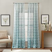 Brookfield Floral Ombre Sheer Curtain