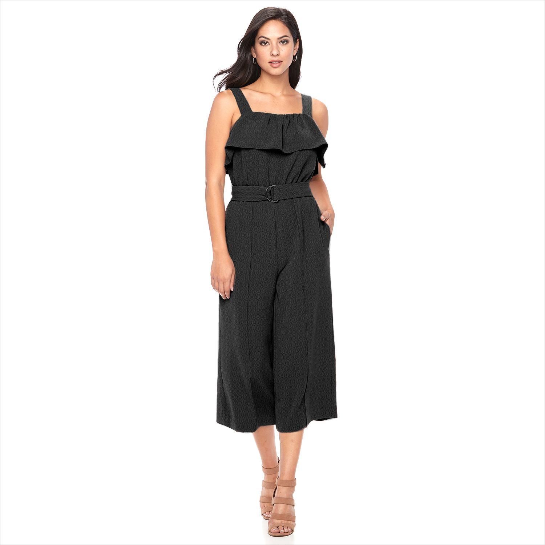 2886737_Black?wid=1000&hei=1000&op_sharpen=1 apt 9� textured flounce jumpsuit,Kohls Apt 9 Womens Clothing