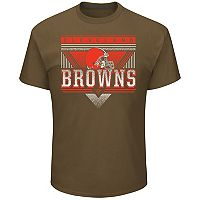 Men's Majestic Cleveland Browns Keep Score Tee