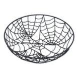 Celebrate Halloween Together Decorative Spiderweb Bowl