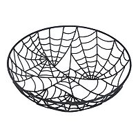 Celebrate Halloween Together Decorative Spiderweb Bowl