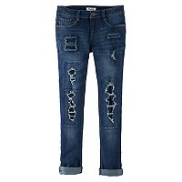 Girls 7-16 & Plus Size Mudd® Rip & Repair Ankle Skinny Jeans