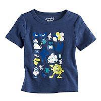 Disney / Pixar Mike Wazowski, Wall-E & Nemo Baby Boy Characters Slubbed Graphic Tee