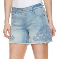 Women's ReCreation Embroidered Stretch Denim Shorts