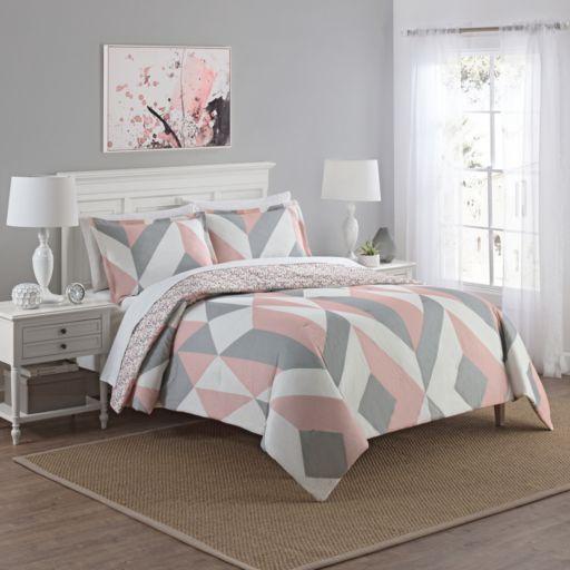 Marble Hill 3-piece Lena Reversible Comforter Set
