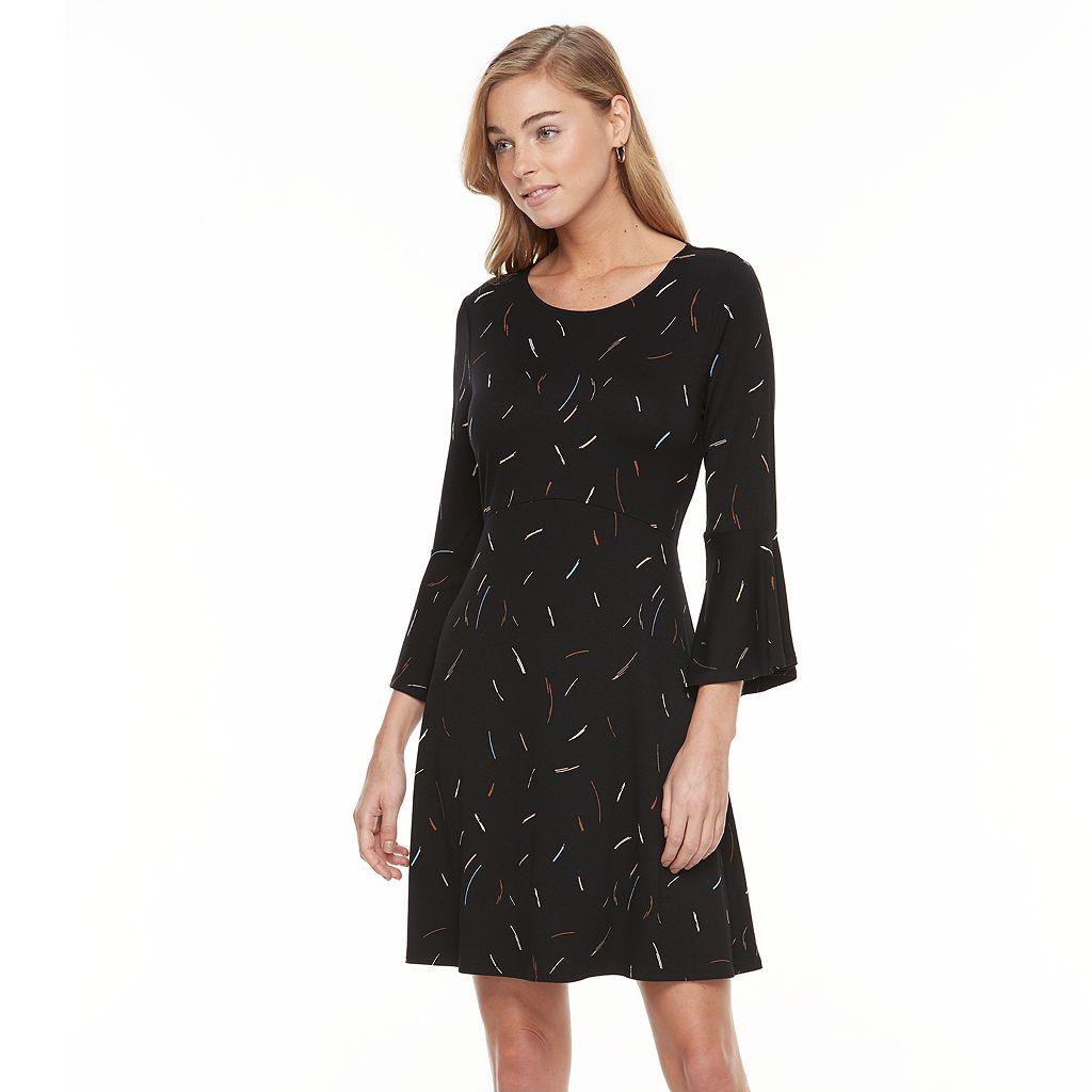 Women's Apt. 9® Bell Sleeve Fit & Flare Dress