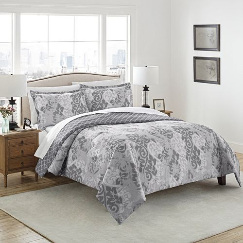 Marble Hill 3-piece Cheyanne Reversible Comforter Set