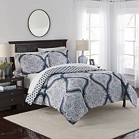 Marble Hill 3 pc Lotus Reversible Comforter Set