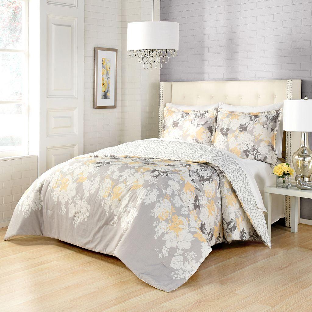 Marble Hill 3-piece Garden Party Reversible Comforter Set
