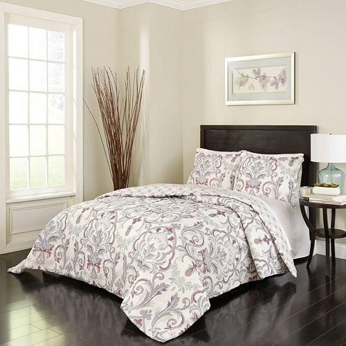 Marble Hill 3-piece Royal Meadow Reversible Comforter Set