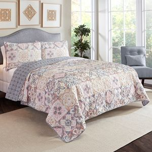 Marble Hill 3-piece Torrey Reversible Quilt Set
