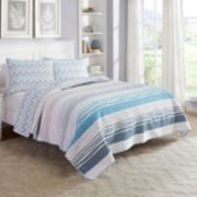 Marble Hill 3-piece Raine Reversible Quilt Set