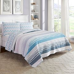Marble Hill 3 pc Raine Reversible Quilt Set