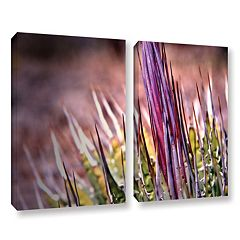 ArtWall Agave Canvas Wall Art 2 pc Set